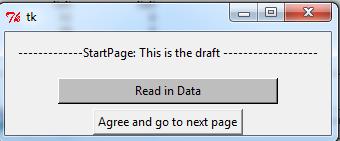 Tkinter read data, dropdown menu, select data and print